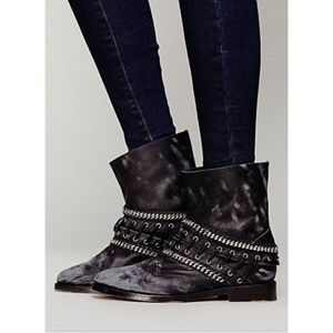 Free People Distressed Chain Boot